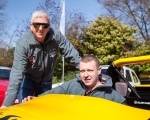 Reigning champion, Gerard O'Connell (left) and championship coordinator, Alan Cassells at the launch of the 2019 ANICC Millers Oils Northern Ireland hillclimb championship.(S3)