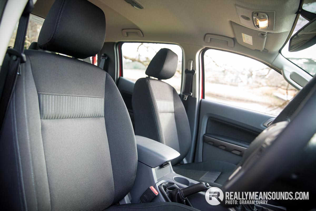 Seats of the Ford Ranger
