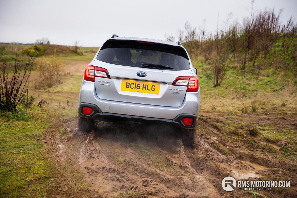 Rear of Subaru Outback