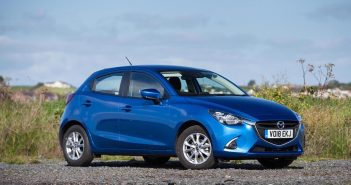 Side of Mazda 2 Sideo of